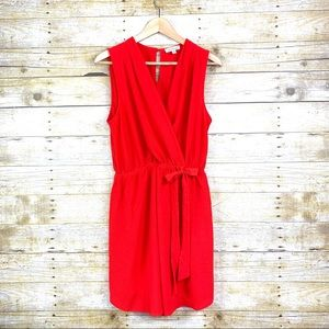 Monteau Cocktail Mini Dress Red Large